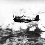 Grumman F6F-5 code 5-F-1 of the VF-5 in fight 1945