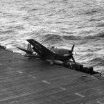 F6F-3 #3 after landing aboard the USS Ticonderoga CV-14 1944