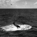 F6F Hellcat #8 of the VF-17, USS Hancock lands on water July 6, 1944 2