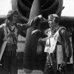 F6F Ace Pilots Coleman and Langdon of VF-83 aboard USS Essex (CV-9) 1945