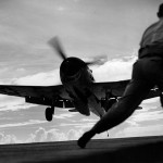 F6F Hellcat of VF-25 before landing on board the light carrier USS Cowpens (CVL-25)