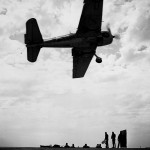F6F Hellcat over board the auxiliary carrier USS Nassau (ACV)-16 1943