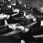 F6F Hellcats of VF-8 on board the carrier USS Bunker Hill CV-17