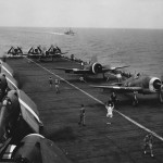 F6F of Fleet Air Arm Hellcats Mk II Ready for Take Off from Carrier