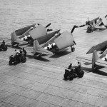 F6F Hellcats Prepare for Take Off from Carrier for Raid on Tarawa 1943