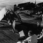 USS Kasaan Bay CVE-69 F6F Hellcats of VF-74 invasion of Southern France in August 1944