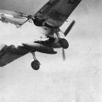 Lt. Magge Prepares to Land Burning F6F Hellcat on USS COWPENS 1944