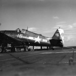 Lt Henry Rowland of VF-3 – USS Yorktown CV-10 damaged F6F Hellcat #15 suffered during a strike against Tokyo in February 17, 1945