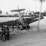 Marine F6F Fighter from MAG-45 Crash Landed 1944