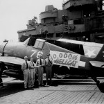 The 10000th Hellcat #76 produced by Grumman after delivery to VBF-87, carrier USS Ticonderoga (CV-14) June 5, 1945