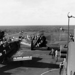 USS Lexington CV-16 March 23, 1944 Hellcats of VF-16 and SBD Dauntless of VB-16