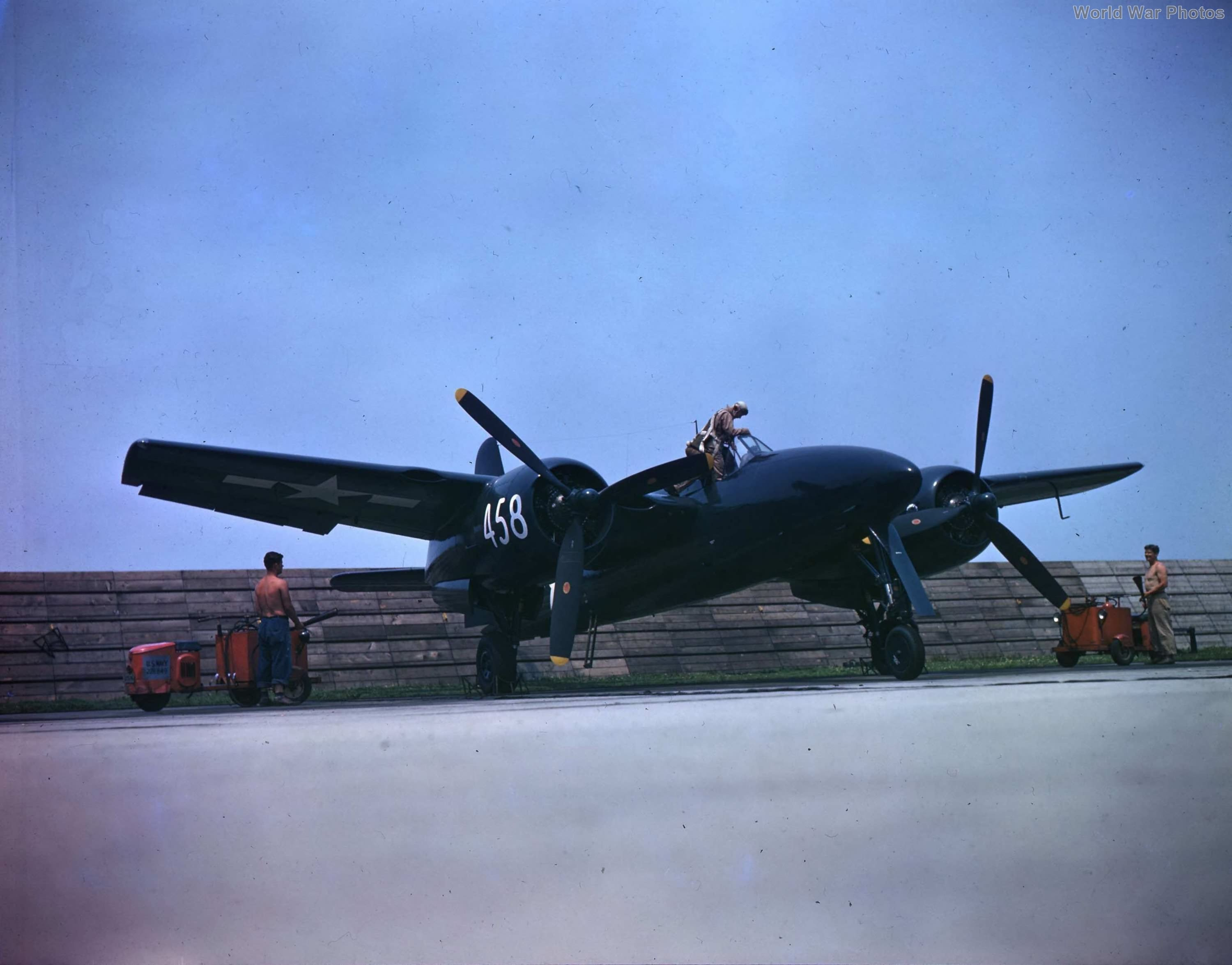 F7F-3 80458 Bethpage airfield 1945