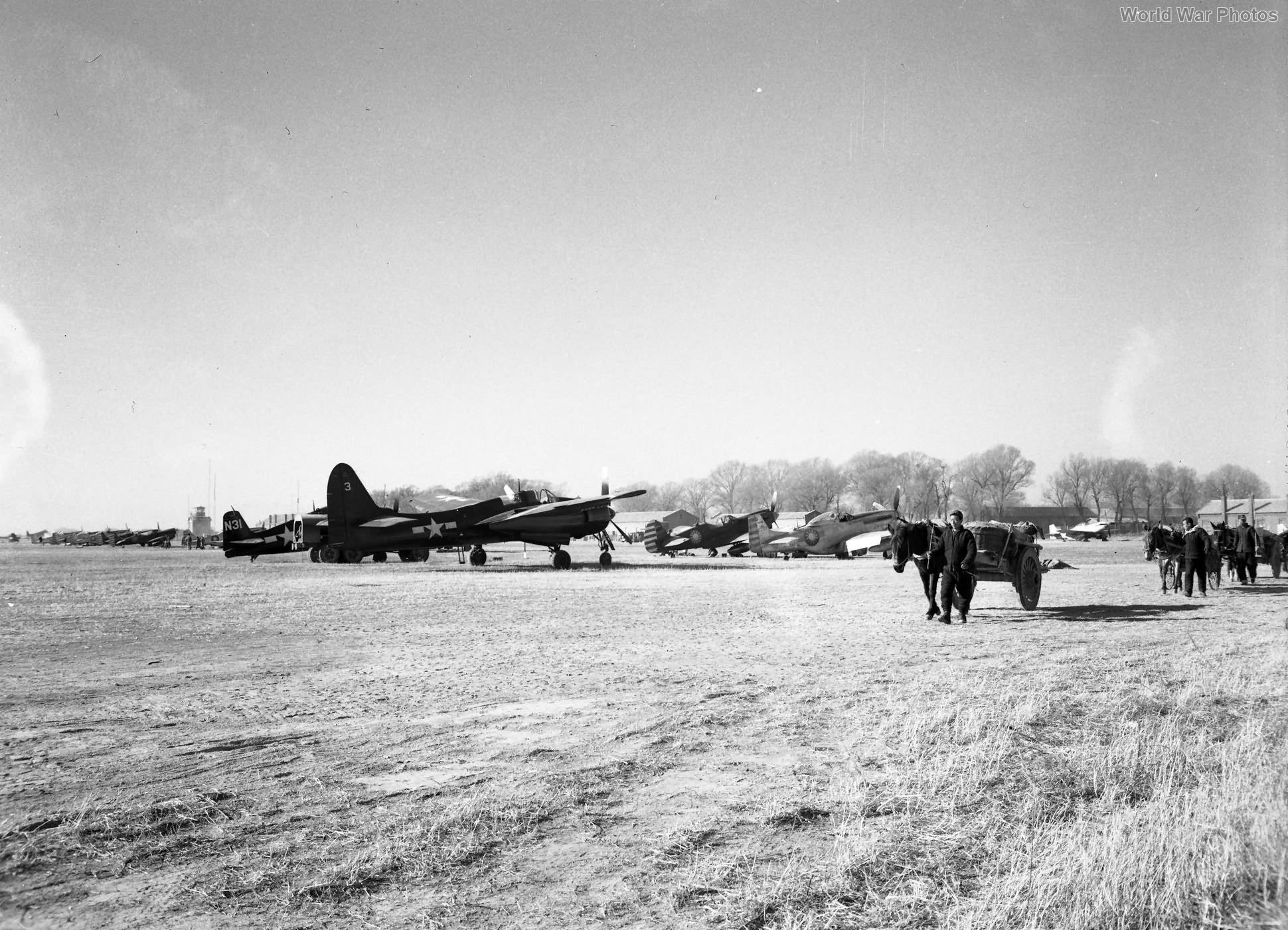 F7F-2N of the VMF(N)-533 Nan Yuan Field, Peiping China October 1945