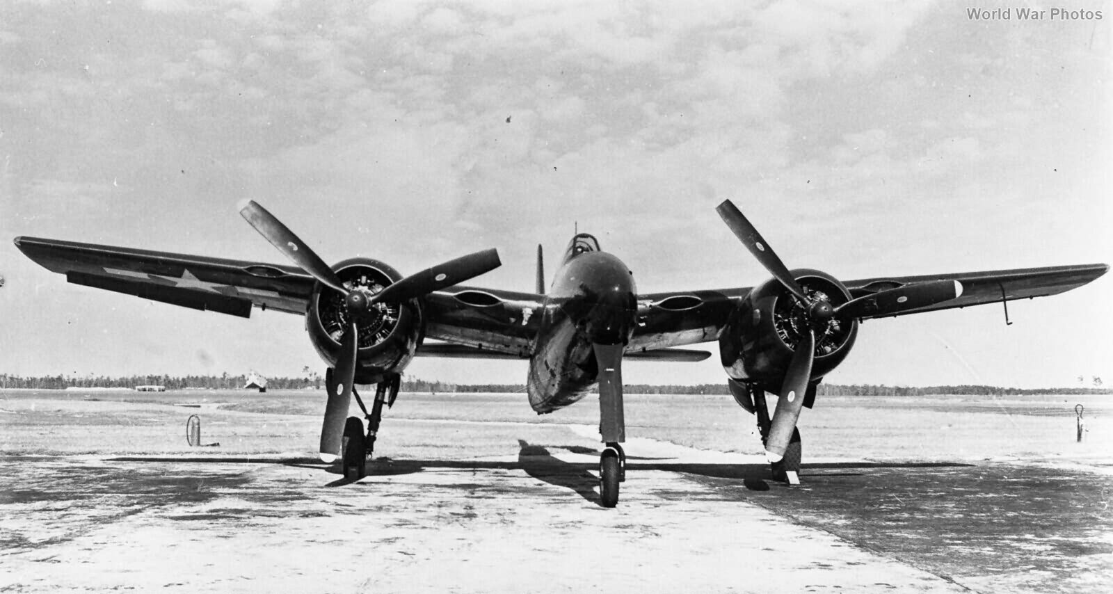 Heavy fighter Grumman F7F front view
