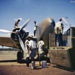 Lockheed Lodestar aircraft being refuelled at Juba