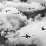 Lockheed Lodestars towing Waco Gliders Texas