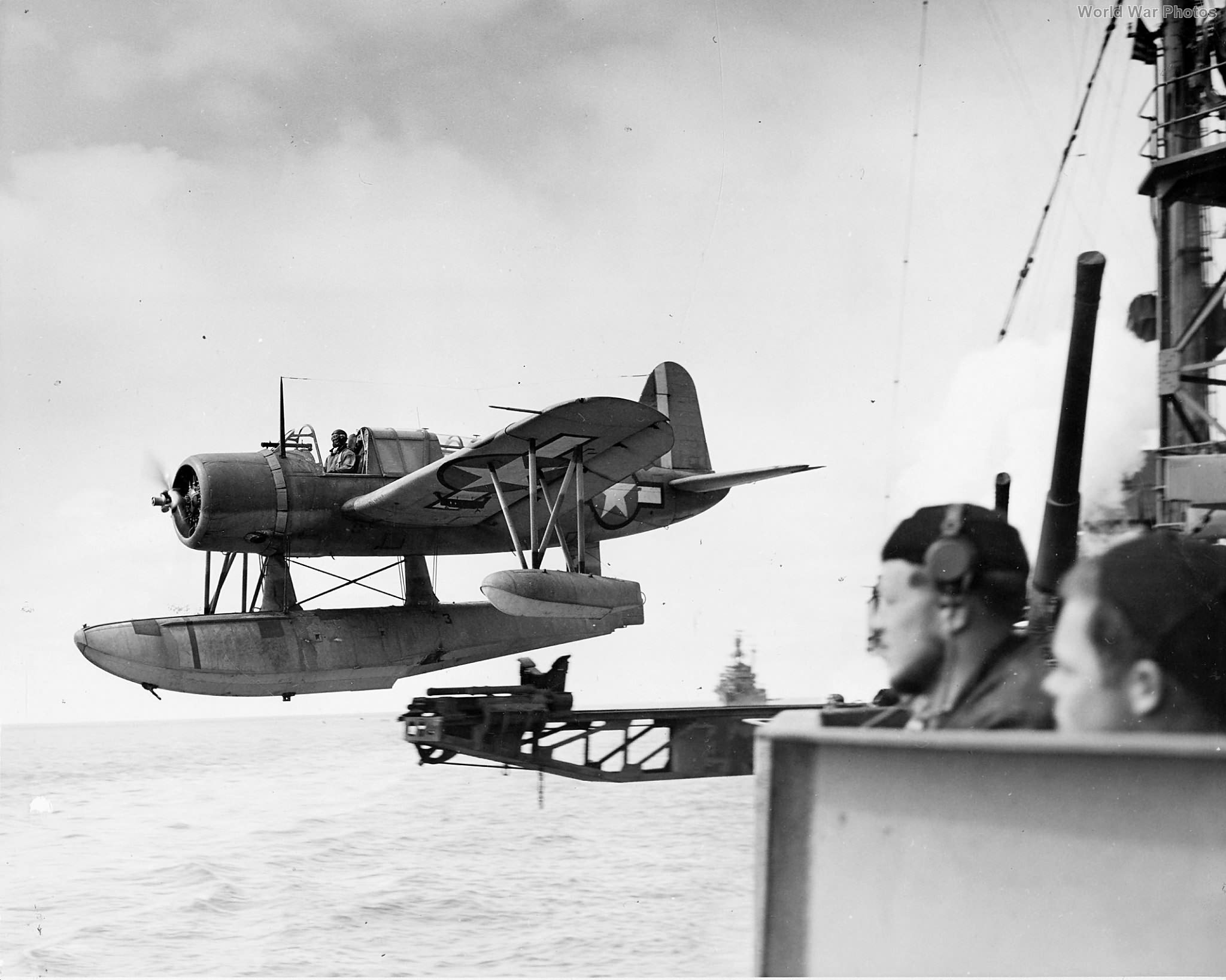 Kingfisher piloted by Lt Fred Hunter of VCS-1, Aleutians