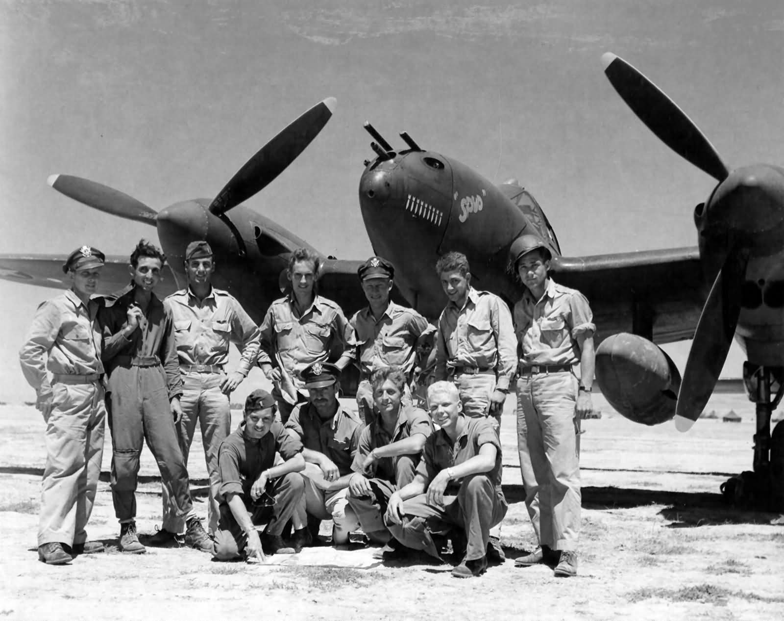 """P-38 Lightning """"Spud"""" of the 96th FS 82nd Fighter Group, 18 June 1943"""