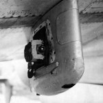 16mm Gun Sight Aiming Point Camera On the Bomb Rack Of the Lockheed P-38 Lightning
