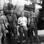 1Lt Robert Miles of the 55th FS 20th Fighter Group with his ground crew and P-38J Lightning 42-68010 code KI K