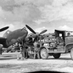 """s/n 42-67842 P-38J-10-LO Lightning squadron number """"4"""" of the 459th Fighter Squadron"""