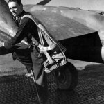 A Pilot Of the 94th Fighter Squadron 1st Fighter Group Climbs Into the Cockpit Of His P-38 Lightning Italy