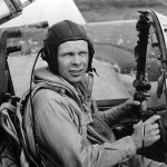 Ace Pilot Richard Bong in his P-38 in New Guinea 1944