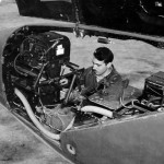 Capt John Robinson at the photo machine used on his F-4 the camera is a 24 in Fairchild