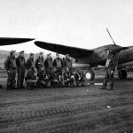 Capt Morgan Giffin commander 54th Fighter Squadron with his P-38 Lightning #90