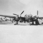F-5 photo reconnaissance version P-38 on Sand Airstrip Pacific