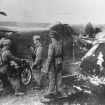 German Soldiers View Downed USAAF P-38 Lightning in Tunisia