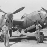 "Lockheed P-38 ""T"" of the 8th Fighter Group and USAAF ground crew"