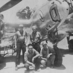 "Lockheed P-38 ""Q"" of the 8th Fighter Group and USAAF ground crew"
