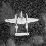 Lockheed P-38 in flight