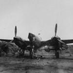Lockheed P-38 parked PTO