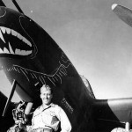 Lt James Hagenback of the 94th, FS 1st Fighter Group with his P-38 Bat Out Of Hell
