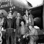 Maj Anderson of the 79th FS 20th FG with his ground crew P-38J 43-28718 code MC-A
