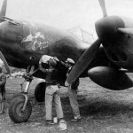"""P-38G Lightning 42-13437 """"The Golden Eagle"""", pilot: Capt Billie Beardsley of the 51st Fighter Group 449th FS Twin Tailed Dragons"""