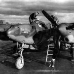 P-38H Lightning s/n 42-6702,6 pilot: Chester Patterson of the 338th FS 55th Fighter Group, code CL-P
