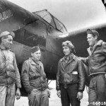 P-38J Lightning 42-104067 code LC-V, pilot: Lt Irwin Fernandes of the 77th FS 20th Fighter Group with his ground crew