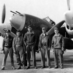 "P-38J Lightning s/n 42-67412 code N2-X ""The Rebel Kids"", pilot Lt Marvin Glascow of the 383rd FS 364th Fighter Group with his ground crew"