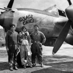 P-38J Lightning 42-68015 code MC-J, pilot Lt Harold Binkley of the 79th FS 20th Fighter Group with his ground crew