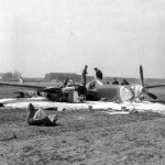 Crashed P-38J Lightning 42-67987 N2-P from the 383rd FS 364th Fighter Group 8th AF