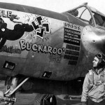 "P-38J Lightning s/n 44-23677 ""Little Buckaroo"" code H5-A pilot Maj Robert Rogers 392nd Fighter Squadron 367th Fighter Group"