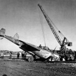 Crashed P-38J Lightning #72, serial 43-28266 of the 48th FS 14th Fighter Group