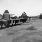 P-38J tail 55th FG 343FS England 1944 Under Repair