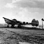 P-38J Lightning with D-Day stripes, serial 42 68071 of the 392nd FS 367th Fighter Group sits on the newly constructed airfield in Normandy
