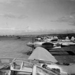 P-38L Lightnings at Hill Airdrome Mindoro Philippines 1944 475th Fighter Group