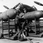 P-38 Lightning Bomb Loading England 8th AF