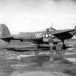"P-38 Lightning ""AO"" from 95th FS 82nd Fighter Group Parked on Airfield"